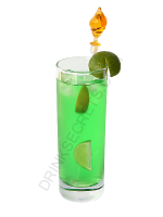 Aqua Thunder cocktail image