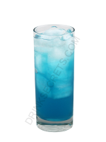 Blue Kamikaze cocktail image